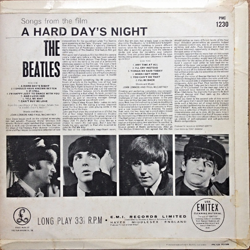 A HARD DAY'S NIGHT (Parlophone) / 1964