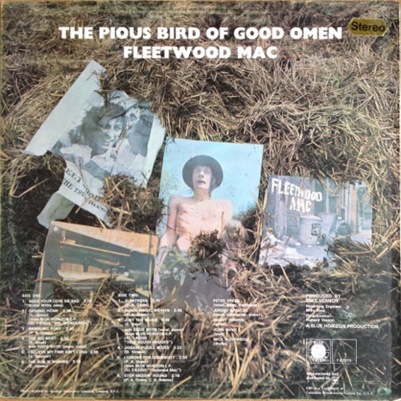 THE PIOUS BIRD OF GOOD OMEN (Blue Horizon, UK) / 1969