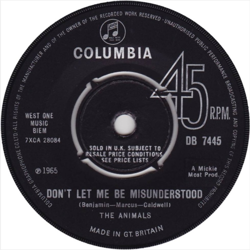 Don't Let Me Be Misunderstood / Club-A-GoGo (Columbia) / 1965
