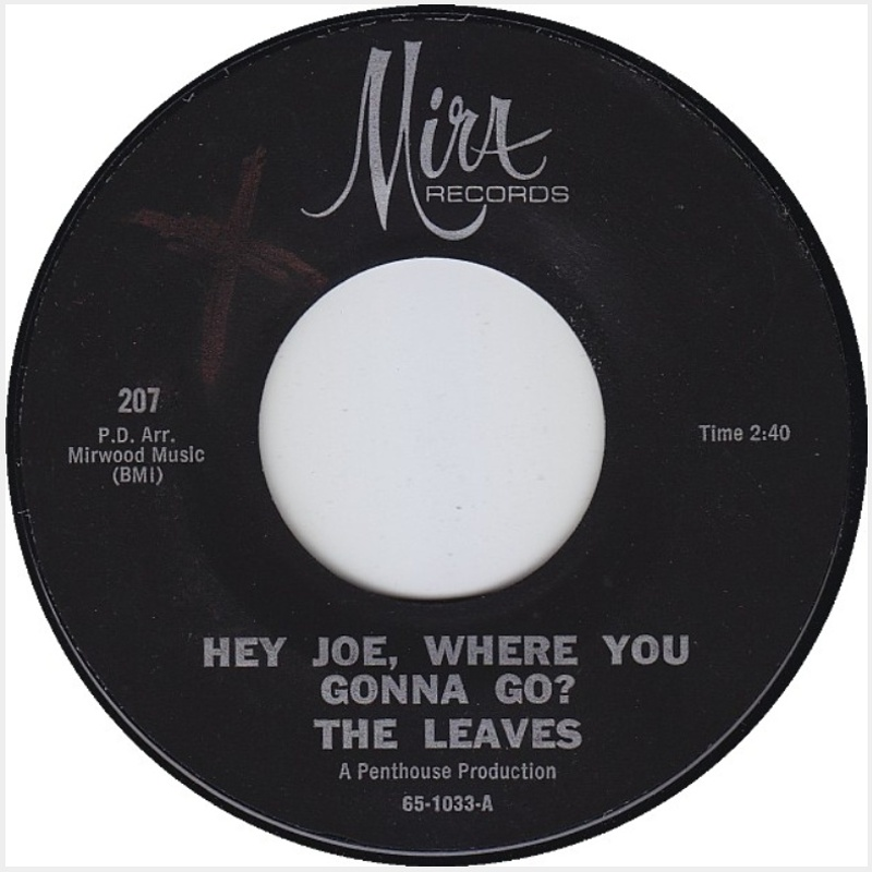 The Leaves - Hey Joe / Be With You (1966)