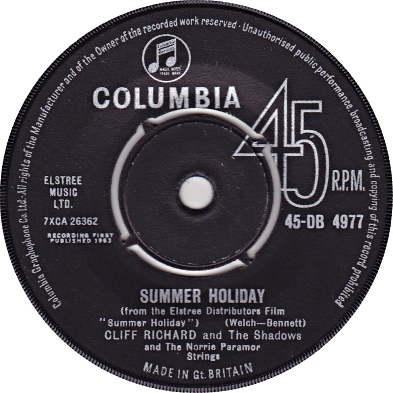 Cliff Richard & The Shadows / Summer Holiday (UK)