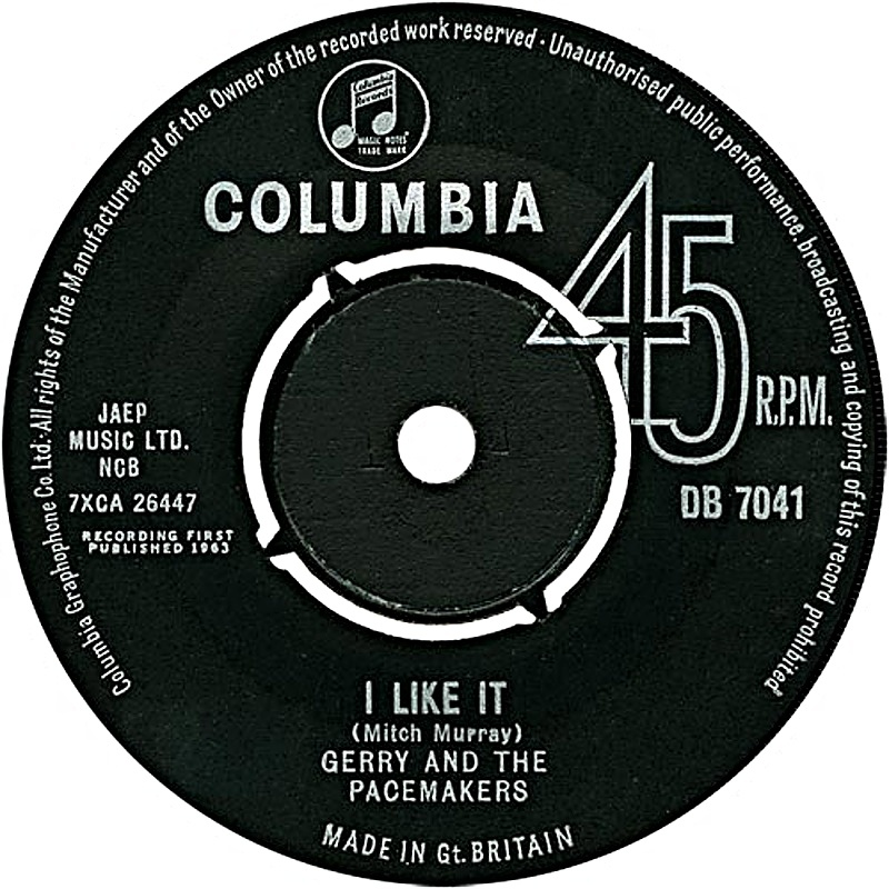 Gerry & The Pacemakers /  I Like It (UK)