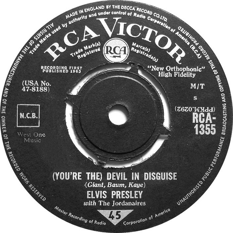 Elvis Presley With The Jordanaires / (You're The) Devil In Disguise