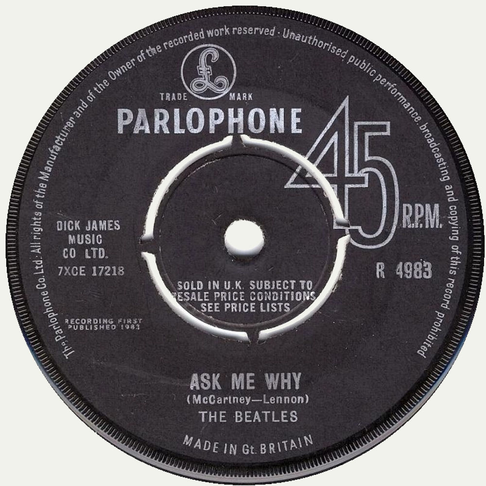 The Beatles ‎– Please Please Me / Ask Me Why (1963)