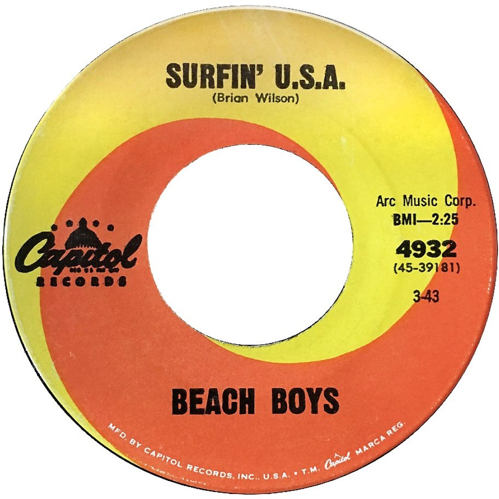 Beach Boys ‎– Surfin' U.S.A. / Shut Down (1963)