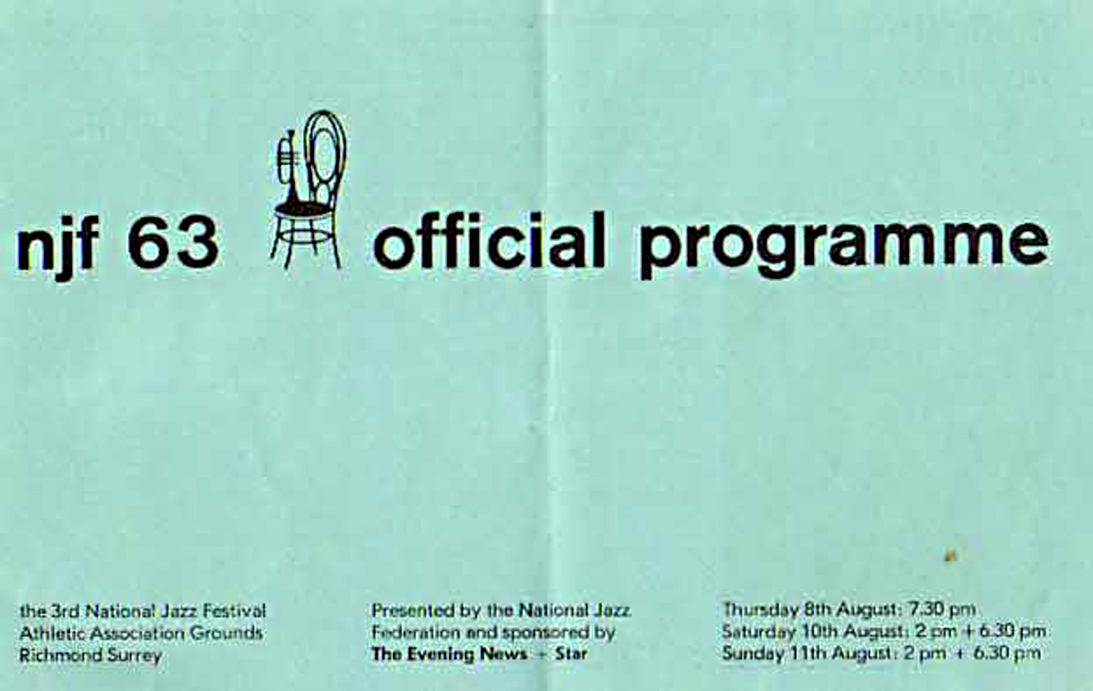 Program of The Third National Jazz and Blues Festival / 10-11 august 1963