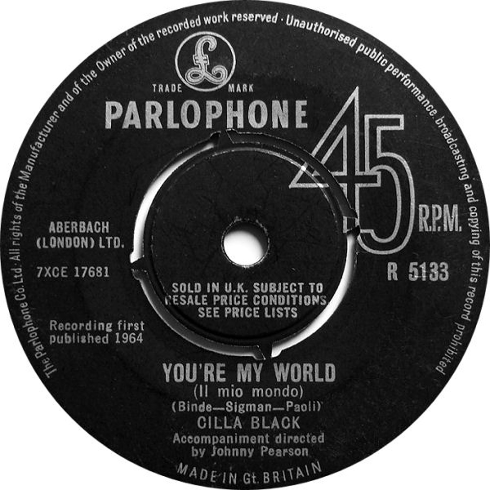 Cilla Black /  You're My World (Il Mio Mondo)