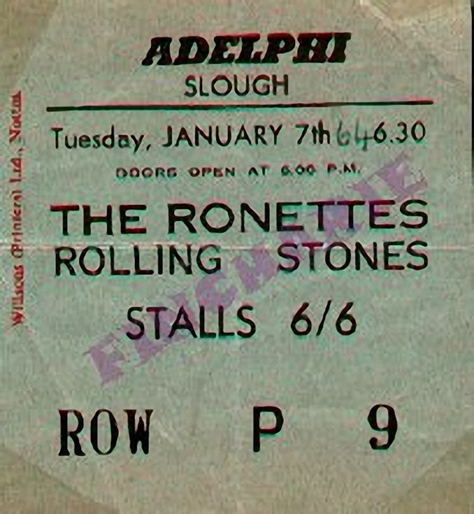 The Rolling Stones Ticket / 1964
