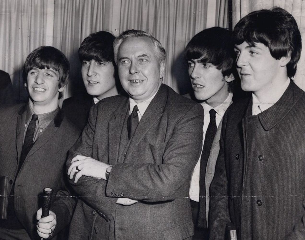 The Beatles with Harold Wilson / 19 марта 1964