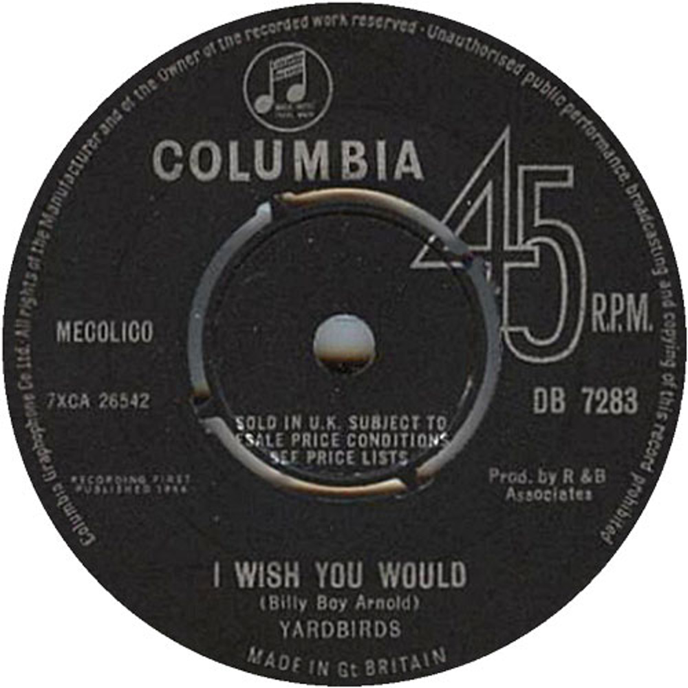 Yardbirds - I Wish You Would / A Certain Girl (1964)