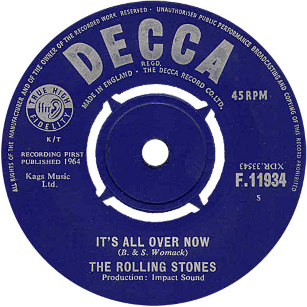 The Rolling Stones - It's All Over Now / Good Times, Bad Times (1964)