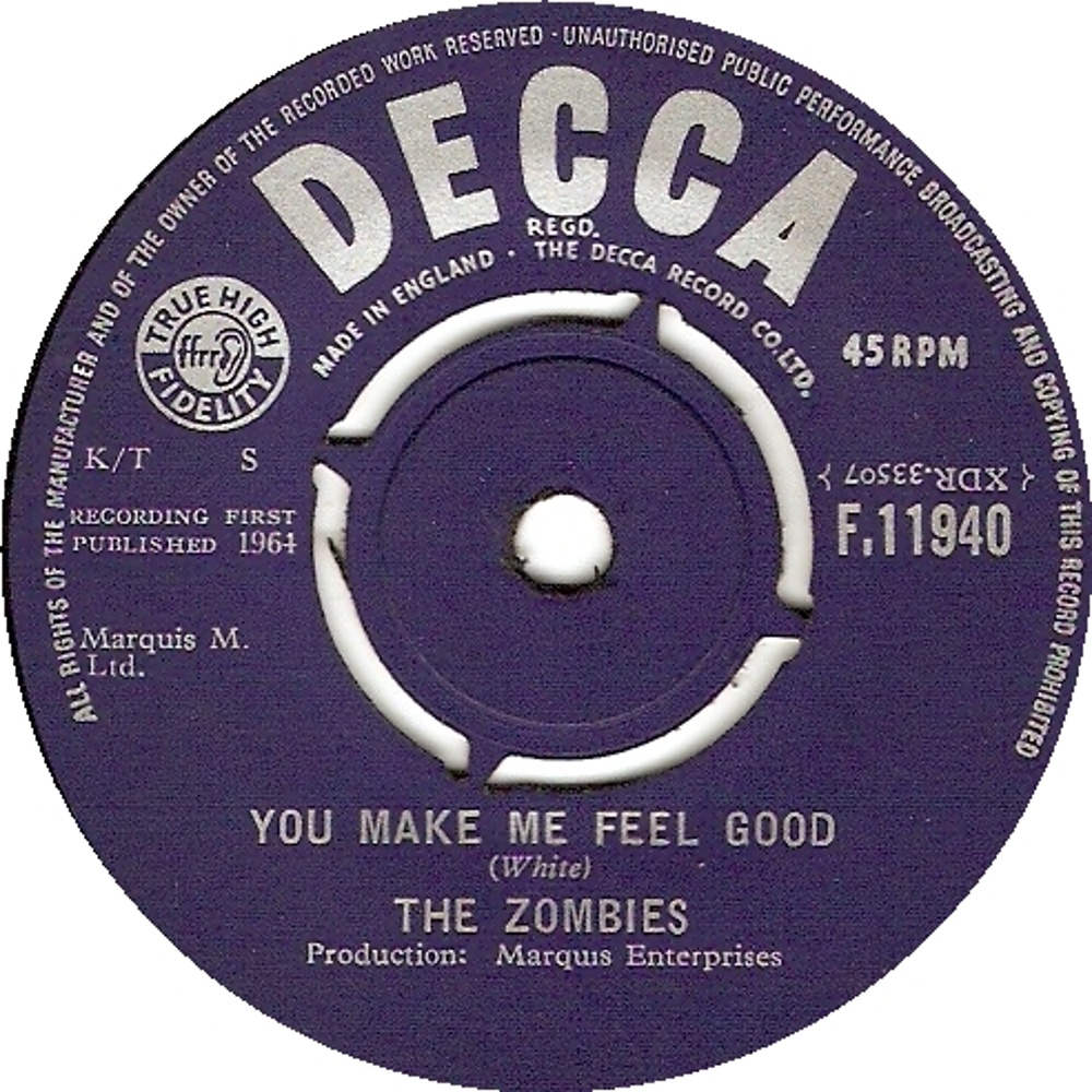 The Zombies - She's Not There / You Make Me Feel Good / июль 1964