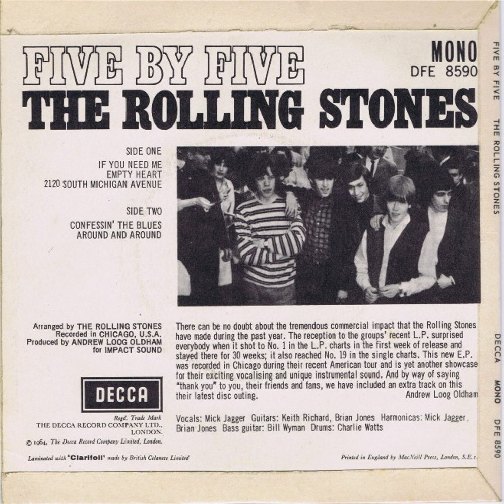 Five By Five (EP) by The Rolling Stones / август 1964