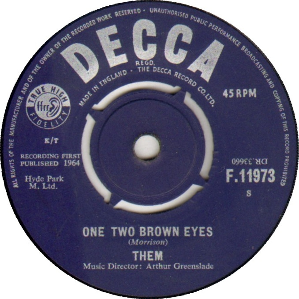 Them - Don't Start Crying Now / One Two Brown Eyes (1964)