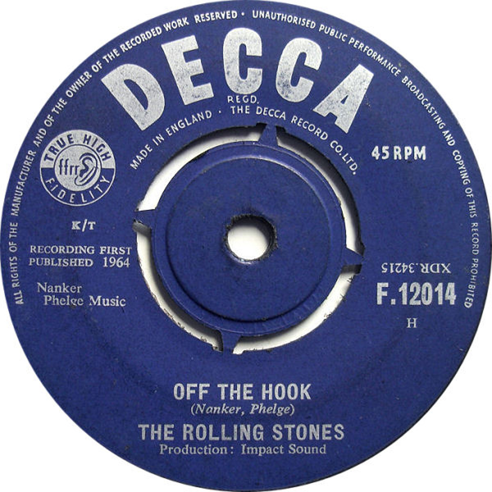 The Rolling Stones ‎– Little Red Rooster / Off The Hook (1964)