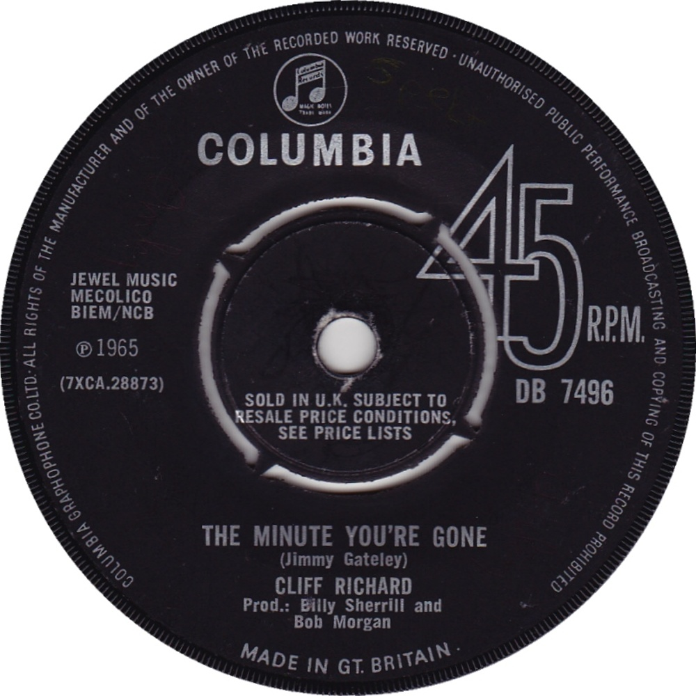 Cliff Richard / The Minute You're Gone