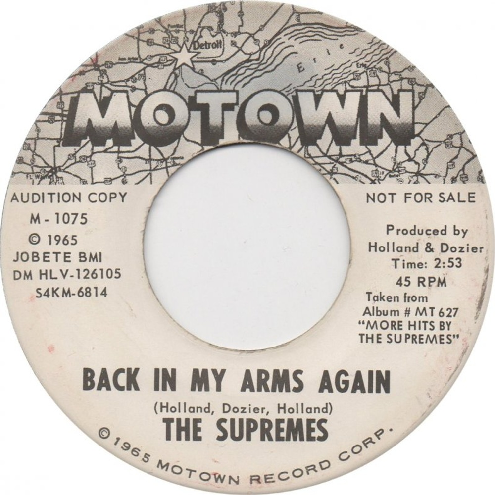 The Supremes / Back In My Arms Again