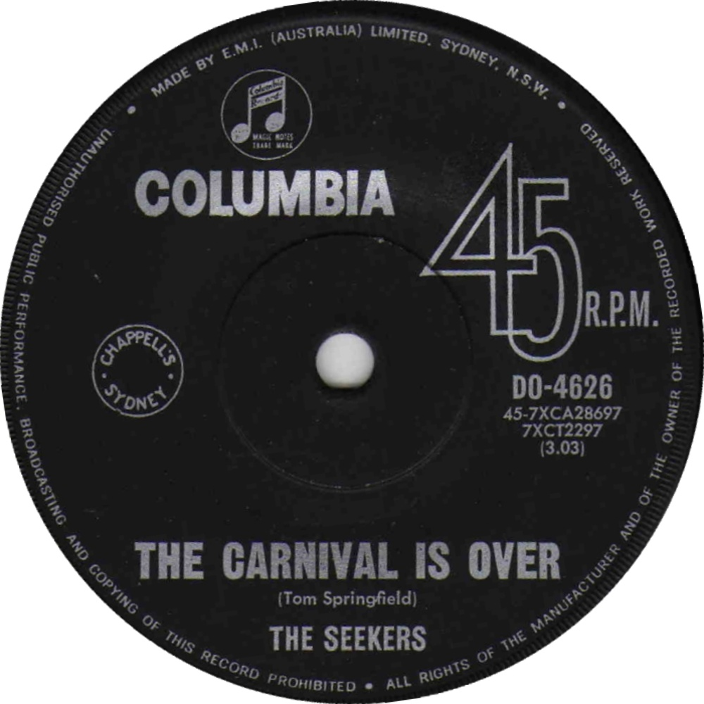 The Seekers / The Carnival Is Over