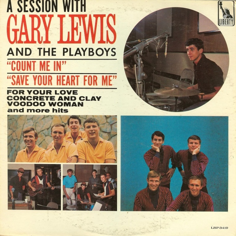 A SESSION WITH GARY LEWIS AND THE PLAYBOYS by Gary Lewis And The Playboys (1965)
