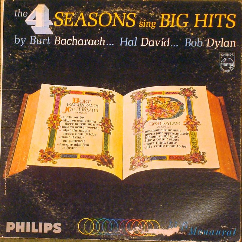 THE 4 SEASONS SING BIG HITS BY BURT BACHARACH, HAL DAVID, BOB DYLAN (1965)