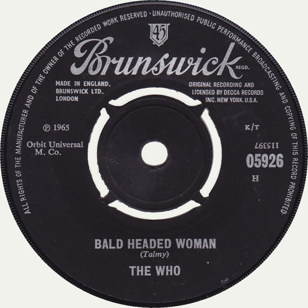 The Who - I Can't Explain / Bald Headed Woman (1965)