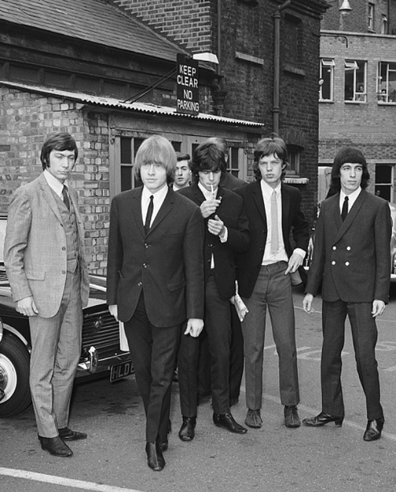 The Rolling Stones made a court appearance after an incident at an all night garage in East London/ 1965