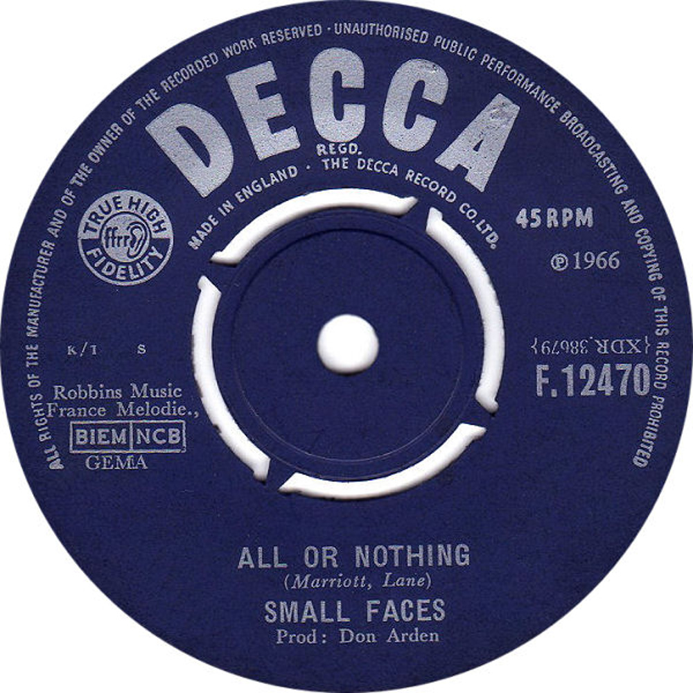 The Small Faces / All Or Nothing