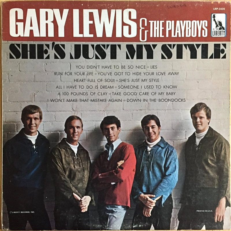 SHE'S JUST MY STYLE by Gary Lewis And The Playboys (1966)