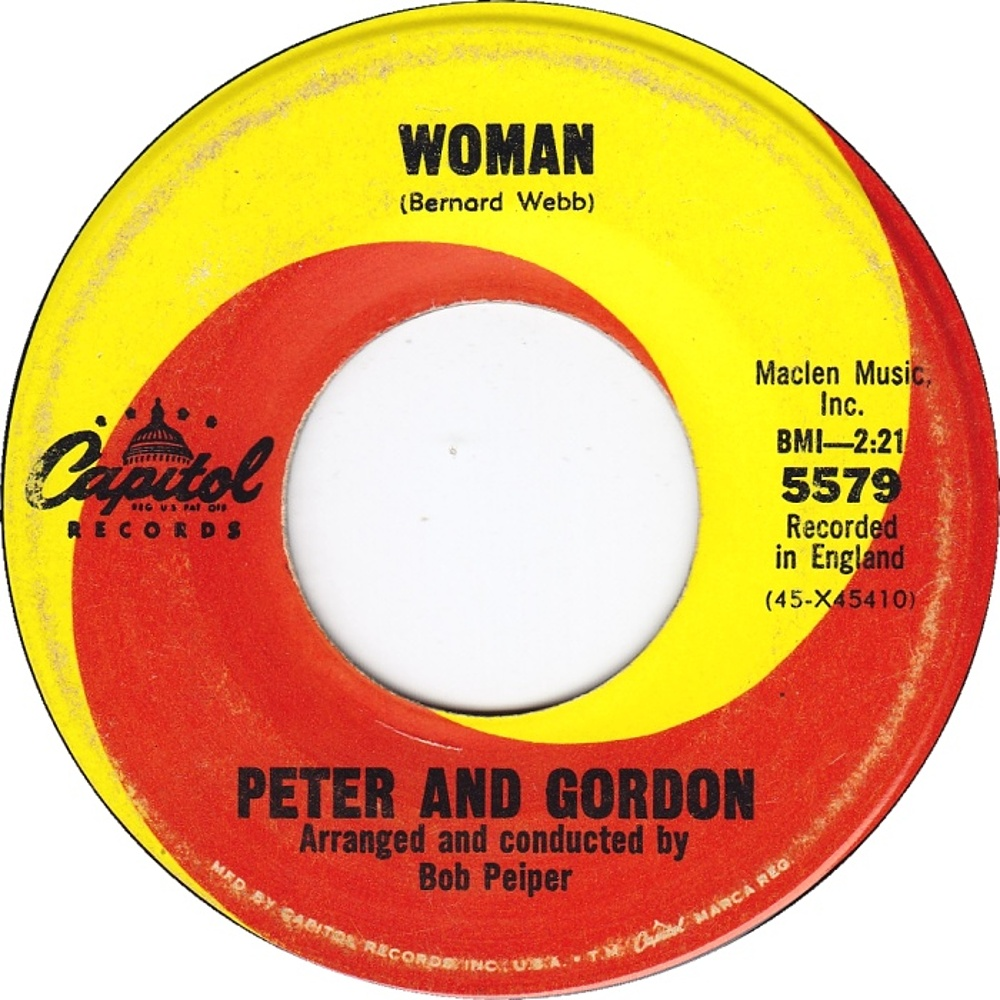 Peter And Gordon - Woman / Wrong From The Start 1966 (Capitol)