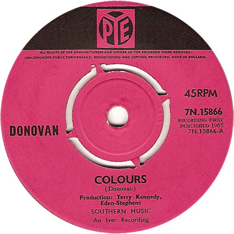 Colours / To Sing For You (Pye) 1965