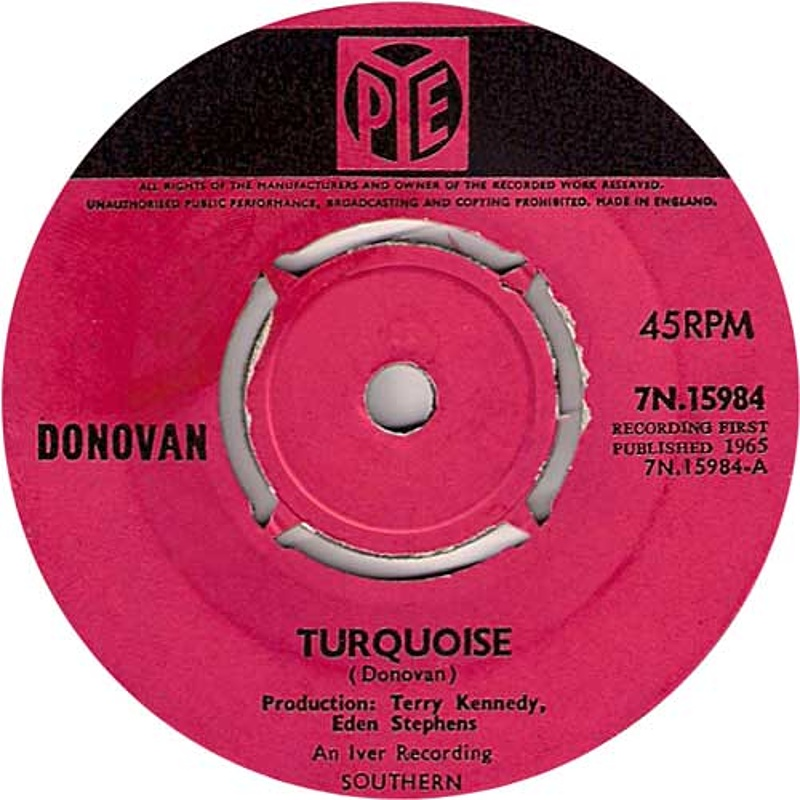 Turquoise / Hey Gyp (Dig The Slowness) (Pye) 1965