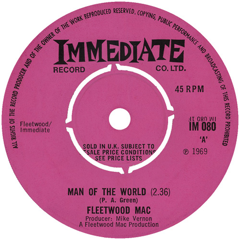Fleetwood Mac - Man Of The World / (Immediate) 1969