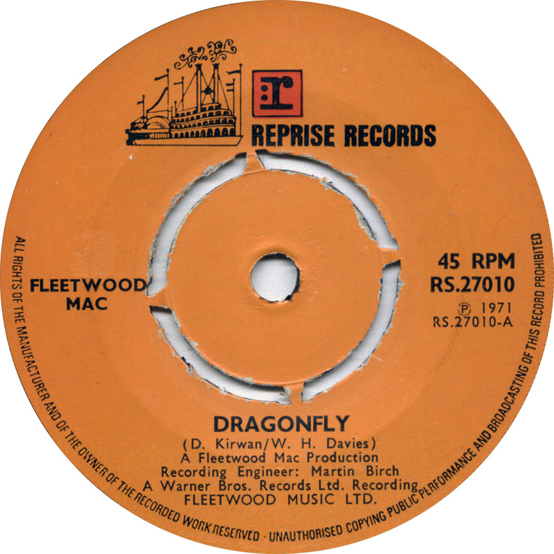 Fleetwood Mac - Dragonfly / The Purple Dancer (Reprise) 1971