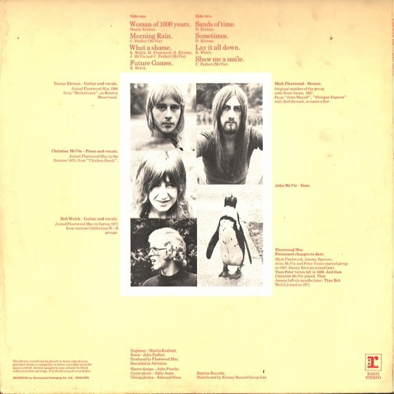 Fleetwood Mac / FUTURE GAMES (Reprise) 1971