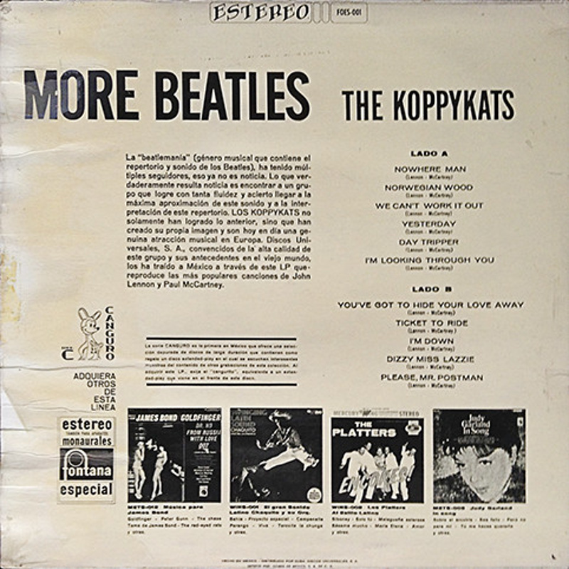 THE BEATLES BEST DONE BY THE KOPPYKATS (1967)