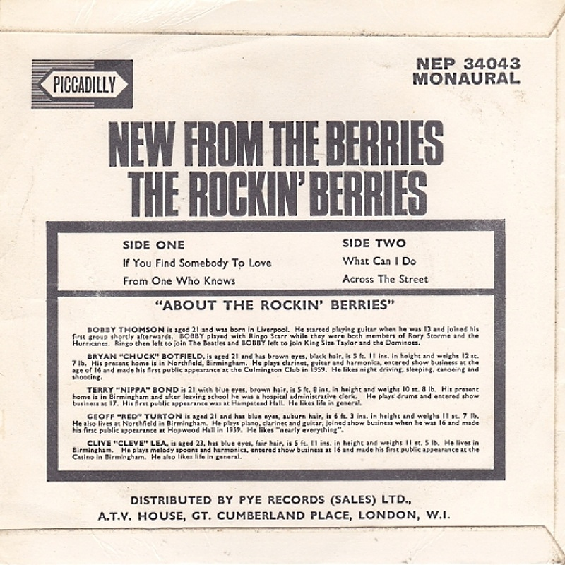 The Rockin' Berries / NEW FROM THE BERRIES (Piccadilly) 1965