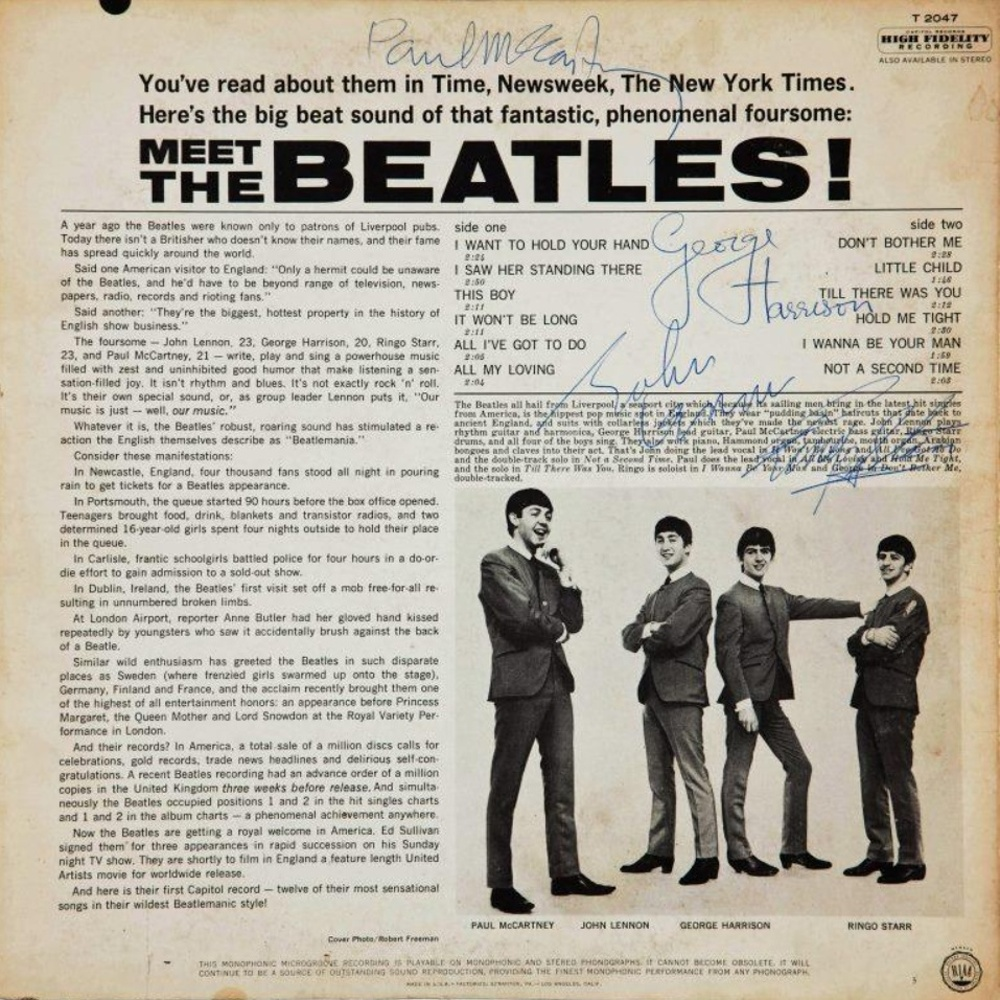 The Beatles - MEET THE BEATLES (USA/Capitol) 1964