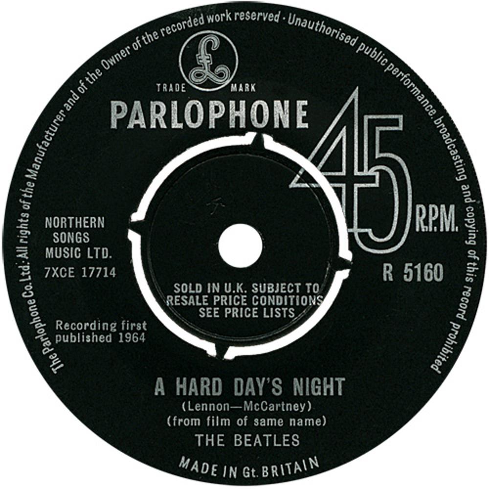 The Beatles - A Hard Day's Night / Things We Said Today (UK/Parlophone) 1964