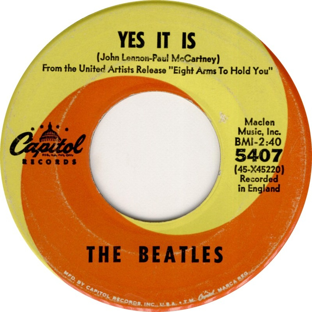 The Beatles - Ticket To Ride / Yes It Is (USA/Capitol) 1965