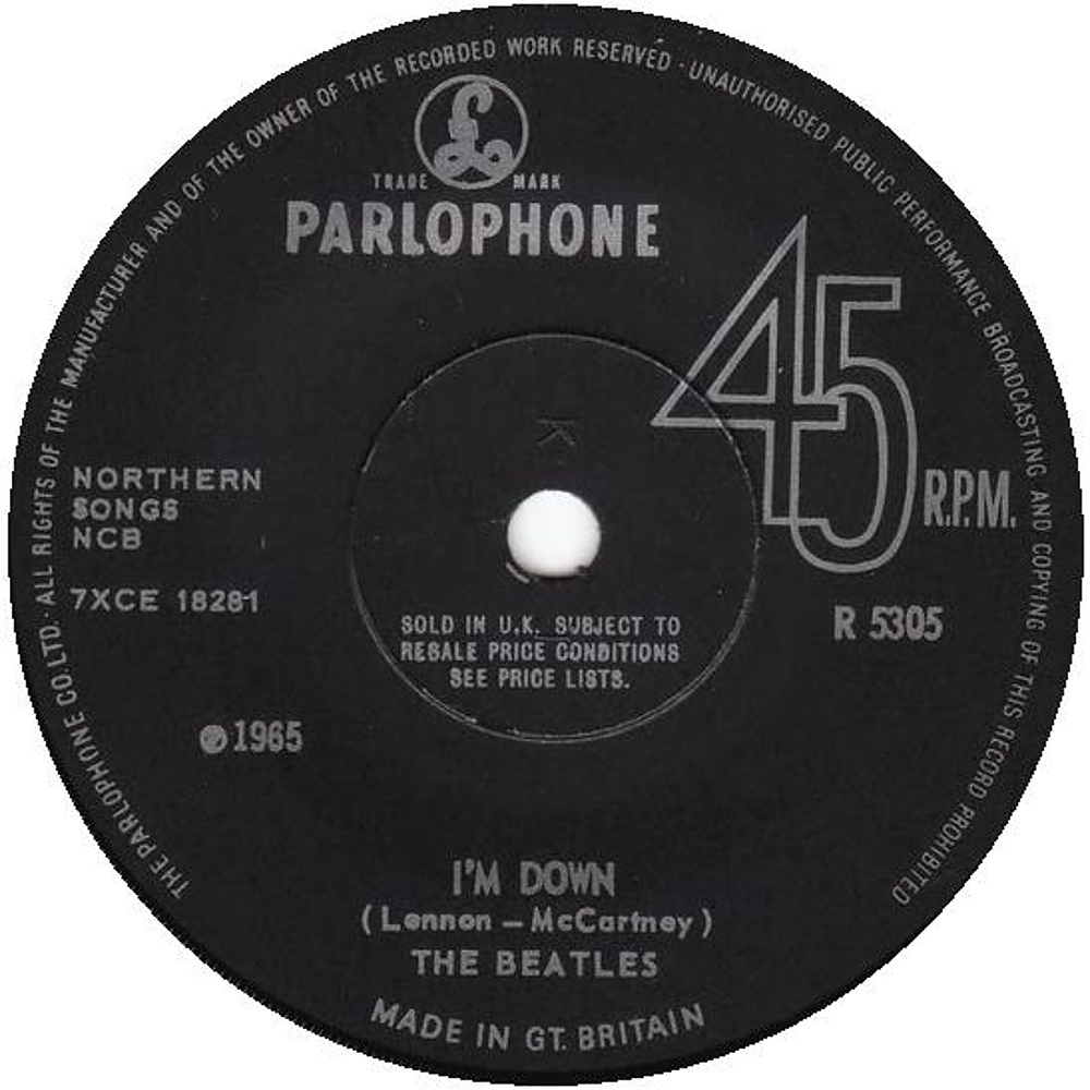 The Beatles - Help! / I'm Down (UK/Parlophone) 1965