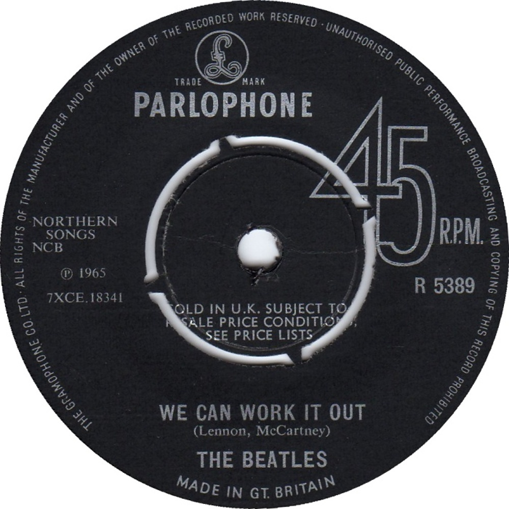 The Beatles - We Can Work It Out! / Day Tripper (UK/Parlophone) 1965