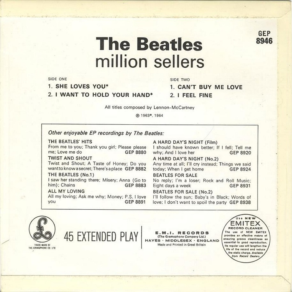 The Beatles - THE BEATLES' MILLION SELLERS (EP/UK/Parlophonel) 1965