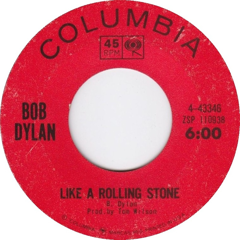 Bob Dylan - Like A Rolling Stone / Gates Of Eden 1965 (Columbia)