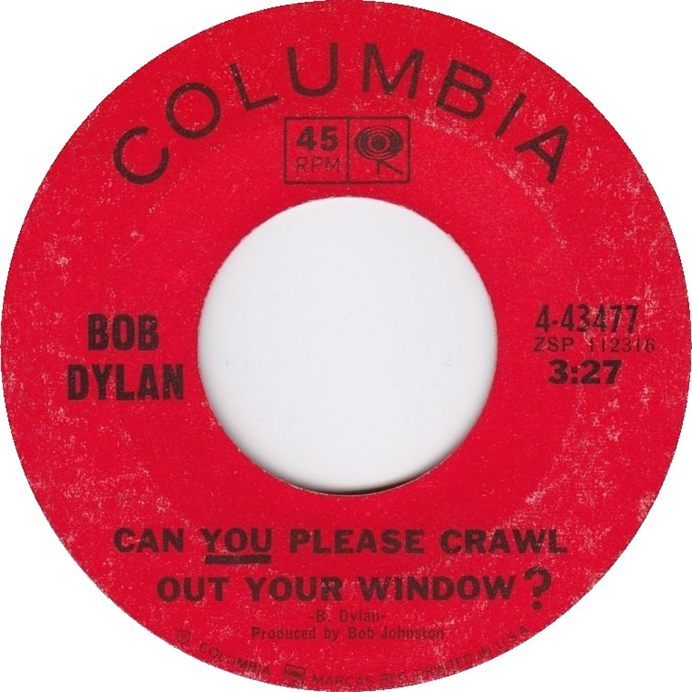 Bob Dylan - Can You Please Crawl Out Your Window? / Highway 61 Revisited 1965 (Columbia)