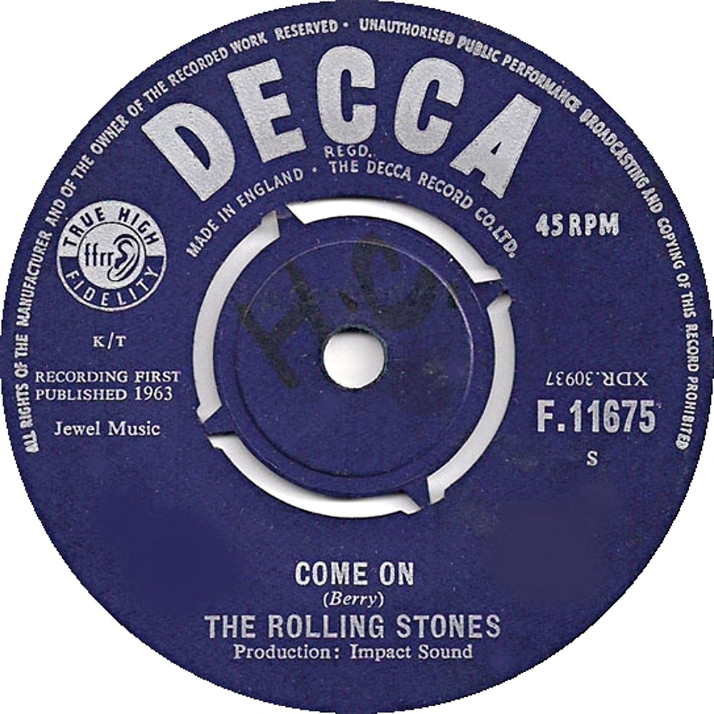 The Rolling Stones - Come On / I Want To Be Loved (1963) Decca