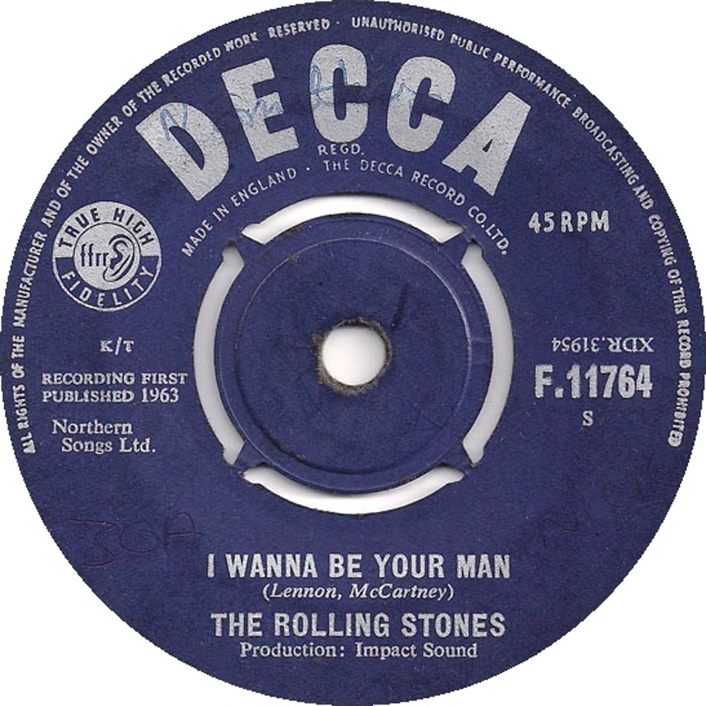 The Rolling Stones - I Wanna Be Your Man / Stoned (1963) Decca