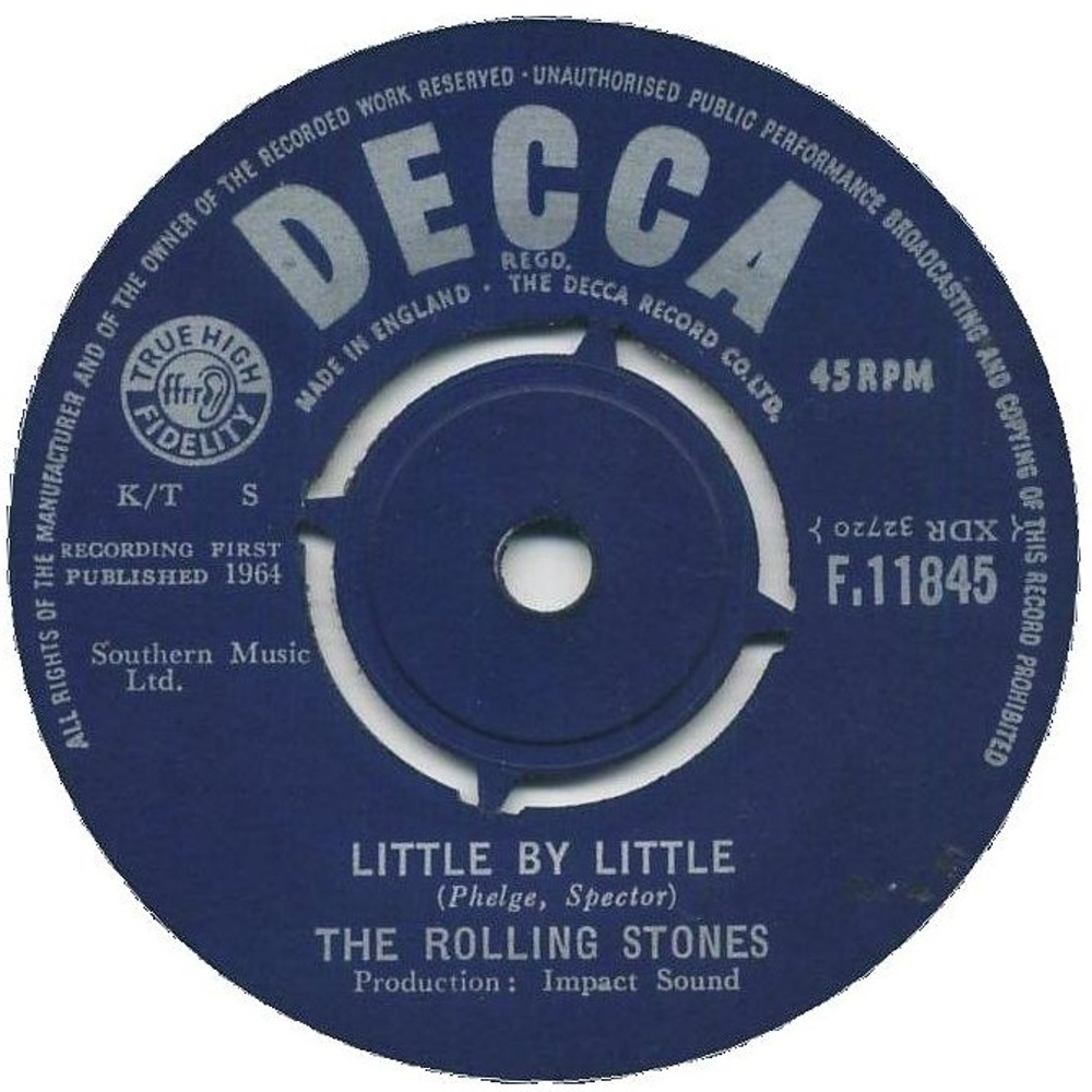 The Rolling Stones - Not Fade Away / Little By Little (1964) Decca