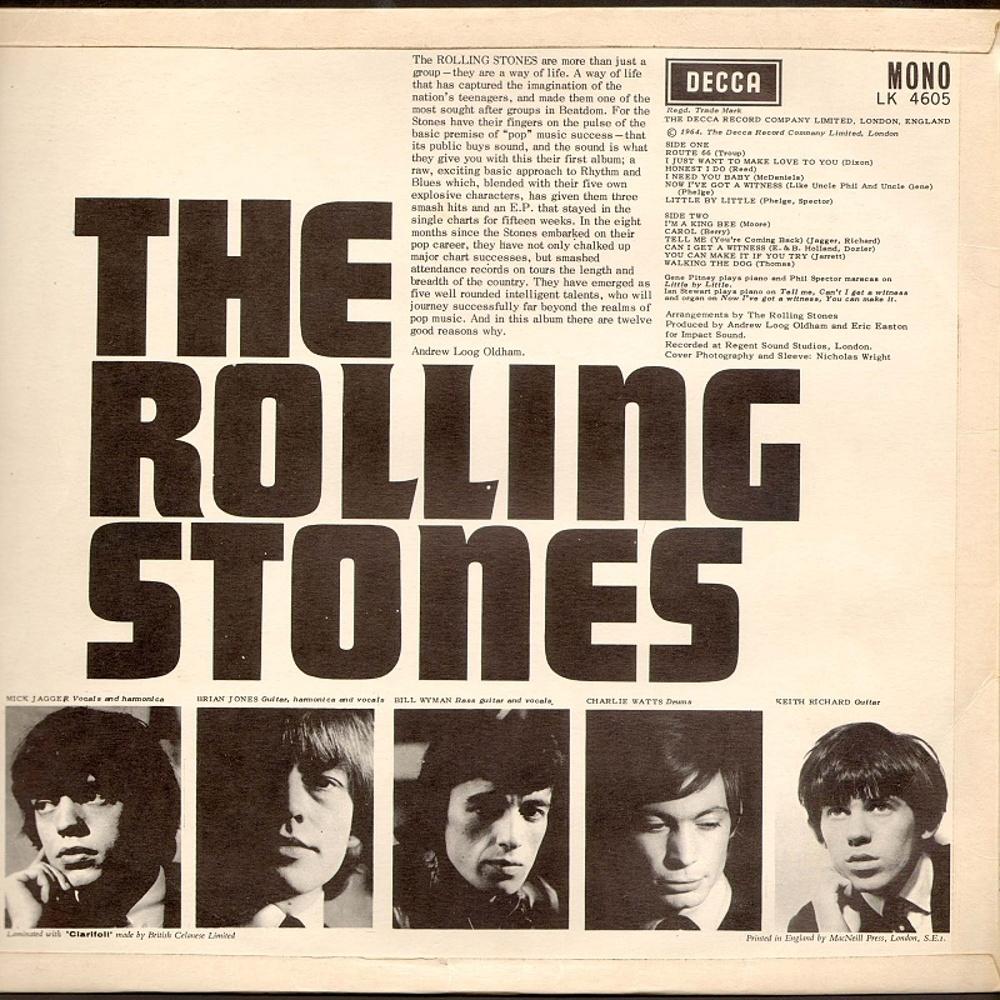 The Rolling Stones - THE ROLLING STONES (LP) / 1964 (Decca)