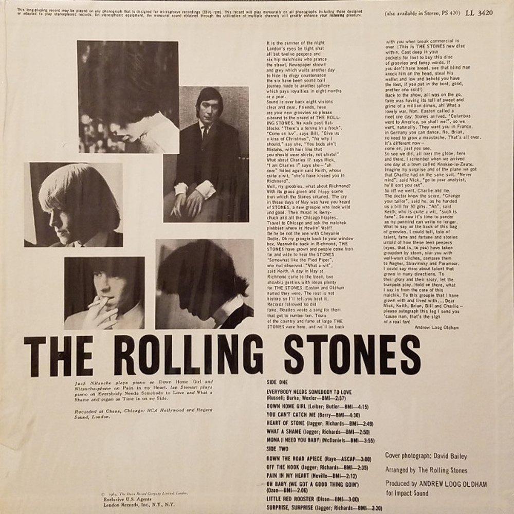 The Rolling Stones - THE ROLLING STONES, NOW! (LP) / (1965/02/13) London