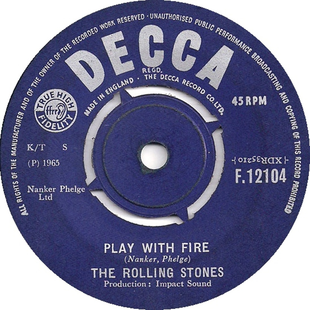 The Rolling Stones - The Last Time / Play With Fire (1965/02/26) Decca